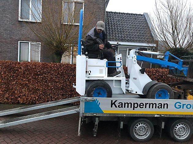 Nieuwe shovel - Kamperman Grondwerk Groningen Scheemda