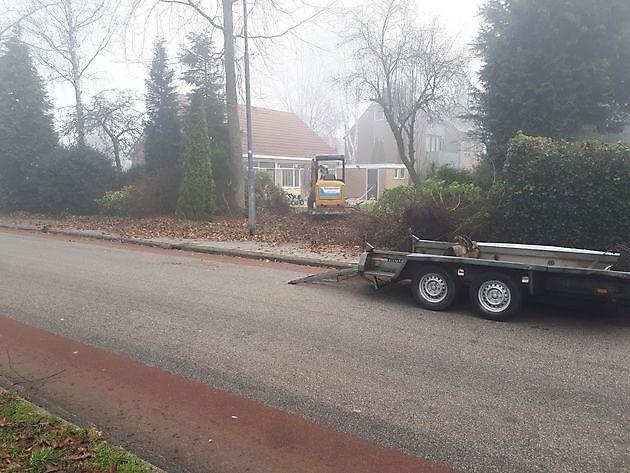 tuin leeg halen - Kamperman Grondwerk Groningen Scheemda