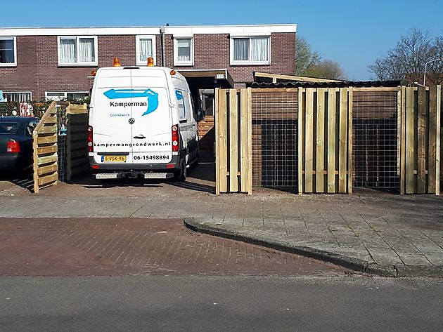 schutting/overkapping Hoogezand - Kamperman Grondwerk Groningen Scheemda