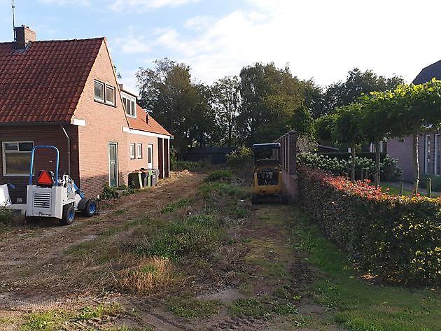 fase 1 tuin Blijham - Kamperman Grondwerk Groningen Scheemda