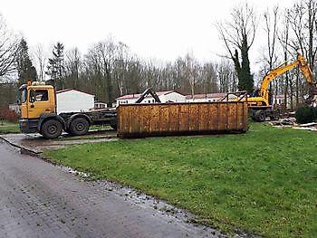 Stacaravans slopen Kamperman Grondwerk Groningen Scheemda