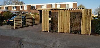 schutting/overkapping Hoogezand Kamperman Grondwerk Groningen Scheemda