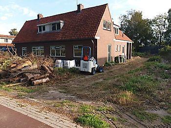 fase 1 tuin Blijham Kamperman Grondwerk Groningen Scheemda