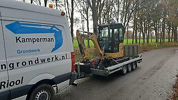 nieuwe machine Kamperman Grondwerk Groningen Scheemda