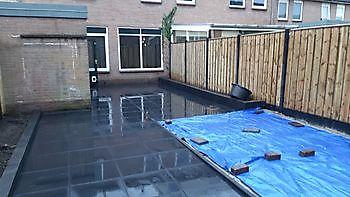 tuin renovatie Hoogezand - Kamperman Grondwerk Groningen Scheemda