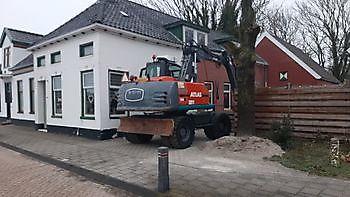 nieuwe machine in de vloot Kamperman Grondwerk Groningen Scheemda